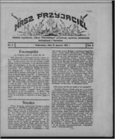"""Nasz Przyjaciel : dodatek tygodniowy """"Głosu Wąbrzeskiego"""" poświęcony sprawom oświatowym, kulturalnym i literackim 1931.01.10, R. 9, nr 2"""