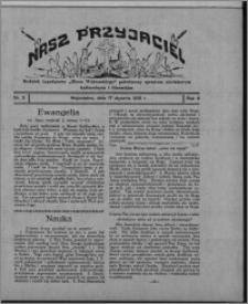 """Nasz Przyjaciel : dodatek tygodniowy """"Głosu Wąbrzeskiego"""" poświęcony sprawom oświatowym, kulturalnym i literackim 1931.01.17, R. 9, nr 3"""