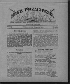 """Nasz Przyjaciel : dodatek tygodniowy """"Głosu Wąbrzeskiego"""" poświęcony sprawom oświatowym, kulturalnym i literackim 1931.04.18, R. 9, nr 16"""
