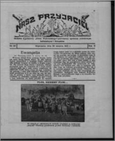 """Nasz Przyjaciel : dodatek tygodniowy """"Głosu Wąbrzeskiego"""" poświęcony sprawom oświatowym, kulturalnym i literackim 1931.08.29, R. 9, nr 35"""