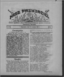 """Nasz Przyjaciel : dodatek tygodniowy """"Głosu Wąbrzeskiego"""" poświęcony sprawom oświatowym, kulturalnym i literackim 1931.09.12, R. 9, nr 37"""