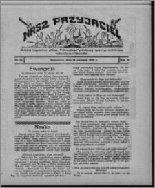"""Nasz Przyjaciel : dodatek tygodniowy """"Głosu Wąbrzeskiego"""" poświęcony sprawom oświatowym, kulturalnym i literackim 1931.09.19, R. 9, nr 38"""