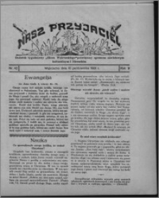 """Nasz Przyjaciel : dodatek tygodniowy """"Głosu Wąbrzeskiego"""" poświęcony sprawom oświatowym, kulturalnym i literackim 1931.10.10, R. 9, nr 42 [i.e. 41]"""