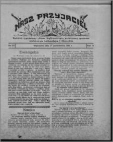"""Nasz Przyjaciel : dodatek tygodniowy """"Głosu Wąbrzeskiego"""" poświęcony sprawom oświatowym, kulturalnym i literackim 1931.10.17, R. 9, nr 43 [i.e. 42]"""