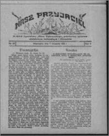 """Nasz Przyjaciel : dodatek tygodniowy """"Głosu Wąbrzeskiego"""" poświęcony sprawom oświatowym, kulturalnym i literackim 1931.11.07, R. 9, nr 46 [i.e. 45]"""