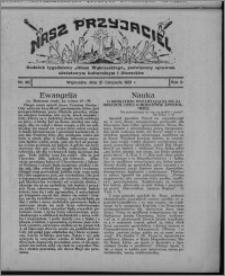 """Nasz Przyjaciel : dodatek tygodniowy """"Głosu Wąbrzeskiego"""" poświęcony sprawom oświatowym, kulturalnym i literackim 1931.11.21, R. 9, nr 48 [i.e. 47]"""