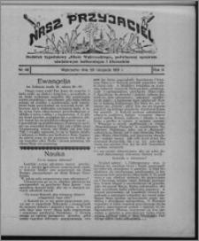 """Nasz Przyjaciel : dodatek tygodniowy """"Głosu Wąbrzeskiego"""" poświęcony sprawom oświatowym, kulturalnym i literackim 1931.11.28, R. 9, nr 49 [i.e. 48]"""