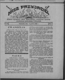 """Nasz Przyjaciel : dodatek tygodniowy """"Głosu Wąbrzeskiego"""" poświęcony sprawom oświatowym, kulturalnym i literackim 1931.12.05, R. 9, nr 50 [i.e. 49]"""