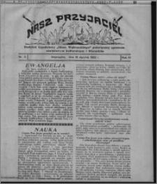 """Nasz Przyjaciel : dodatek tygodniowy """"Głosu Wąbrzeskiego"""" poświęcony sprawom oświatowym, kulturalnym i literackim 1932.01.16, R. 10, nr 3"""