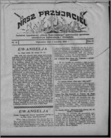 """Nasz Przyjaciel : dodatek tygodniowy """"Głosu Wąbrzeskiego"""" poświęcony sprawom oświatowym, kulturalnym i literackim 1932.04.02, R. 10, nr 13 [i.e. 14]"""