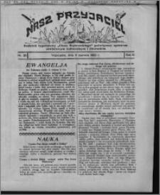 """Nasz Przyjaciel : dodatek tygodniowy """"Głosu Wąbrzeskiego"""" poświęcony sprawom oświatowym, kulturalnym i literackim 1932.06.11, R. 10, nr 25 [i.e. 24]"""