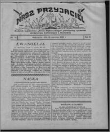 """Nasz Przyjaciel : dodatek tygodniowy """"Głosu Wąbrzeskiego"""" poświęcony sprawom oświatowym, kulturalnym i literackim 1932.06.18, R. 10, nr 26 [i.e. 25]"""
