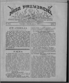 """Nasz Przyjaciel : dodatek tygodniowy """"Głosu Wąbrzeskiego"""" poświęcony sprawom oświatowym, kulturalnym i literackim 1932.06.25, R. 10, nr 27 [i.e. 26]"""