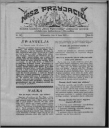 """Nasz Przyjaciel : dodatek tygodniowy """"Głosu Wąbrzeskiego"""" poświęcony sprawom oświatowym, kulturalnym i literackim 1932.07.09, R. 10, nr 29 [i.e. 28]"""