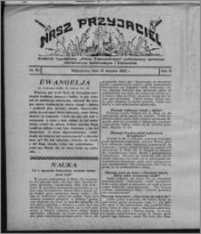 """Nasz Przyjaciel : dodatek tygodniowy """"Głosu Wąbrzeskiego"""" poświęcony sprawom oświatowym, kulturalnym i literackim 1932.08.13, R. 10, nr 34 [i.e. 33]"""