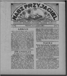 """Nasz Przyjaciel : dodatek tygodniowy """"Głosu Wąbrzeskiego"""" poświęcony sprawom oświatowym, kulturalnym i literackim 1932.09.03, R. 10, nr 37 [i.e. 36]"""