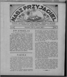 """Nasz Przyjaciel : dodatek tygodniowy """"Głosu Wąbrzeskiego"""" poświęcony sprawom oświatowym, kulturalnym i literackim 1932.09.17, R. 10, nr 39 [i.e. 38]"""