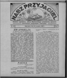 """Nasz Przyjaciel : dodatek tygodniowy """"Głosu Wąbrzeskiego"""" poświęcony sprawom oświatowym, kulturalnym i literackim 1932.09.24, R. 10, nr 40 [i.e. 39]"""