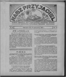 """Nasz Przyjaciel : dodatek tygodniowy """"Głosu Wąbrzeskiego"""" poświęcony sprawom oświatowym, kulturalnym i literackim 1932.10.15, R. 10, nr 43 [i.e. 42]"""