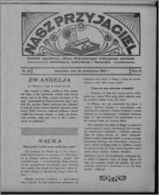 """Nasz Przyjaciel : dodatek tygodniowy """"Głosu Wąbrzeskiego"""" poświęcony sprawom oświatowym, kulturalnym i literackim 1932.10.29, R. 10, nr 45 [i.e. 44]"""