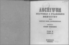 Archiwum Historii i Filozofii Medycyny 1926 t.5 z.2