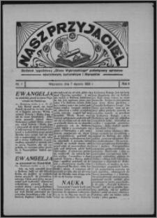 """Nasz Przyjaciel : dodatek tygodniowy """"Głosu Wąbrzeskiego"""" poświęcony sprawom oświatowym, kulturalnym i literackim 1933.01.07, R. 11, nr 1"""