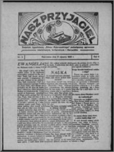 """Nasz Przyjaciel : dodatek tygodniowy """"Głosu Wąbrzeskiego"""" poświęcony sprawom oświatowym, kulturalnym i literackim 1933.01.21, R. 11, nr 3"""