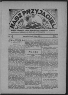 """Nasz Przyjaciel : dodatek tygodniowy """"Głosu Wąbrzeskiego"""" poświęcony sprawom oświatowym, kulturalnym i literackim 1933.03.18, R. 11, nr 11"""