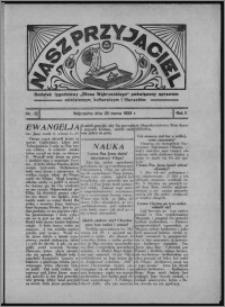 """Nasz Przyjaciel : dodatek tygodniowy """"Głosu Wąbrzeskiego"""" poświęcony sprawom oświatowym, kulturalnym i literackim 1933.03.25, R. 11, nr 12"""