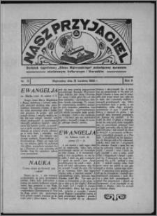 """Nasz Przyjaciel : dodatek tygodniowy """"Głosu Wąbrzeskiego"""" poświęcony sprawom oświatowym, kulturalnym i literackim 1933.04.15, R. 11, nr 15"""