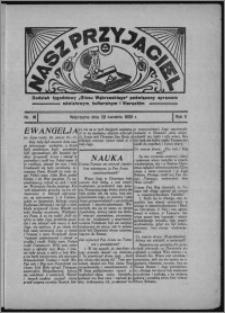 """Nasz Przyjaciel : dodatek tygodniowy """"Głosu Wąbrzeskiego"""" poświęcony sprawom oświatowym, kulturalnym i literackim 1933.04.22, R. 11, nr 16"""