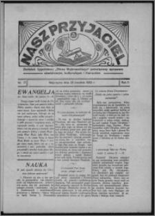 """Nasz Przyjaciel : dodatek tygodniowy """"Głosu Wąbrzeskiego"""" poświęcony sprawom oświatowym, kulturalnym i literackim 1933.04.29, R. 11, nr 17"""