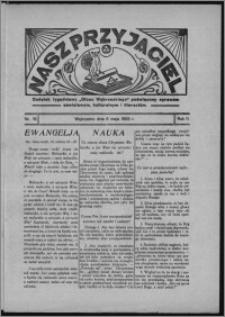 """Nasz Przyjaciel : dodatek tygodniowy """"Głosu Wąbrzeskiego"""" poświęcony sprawom oświatowym, kulturalnym i literackim 1933.05.06, R. 11, nr 18"""