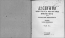 Archiwum Historii i Filozofii Medycyny 1926 t.7 z.2