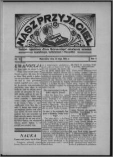 """Nasz Przyjaciel : dodatek tygodniowy """"Głosu Wąbrzeskiego"""" poświęcony sprawom oświatowym, kulturalnym i literackim 1933.05.13, R. 11, nr 19"""