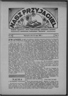 """Nasz Przyjaciel : dodatek tygodniowy """"Głosu Wąbrzeskiego"""" poświęcony sprawom oświatowym, kulturalnym i literackim 1933.05.20, R. 11, nr 20"""