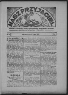 """Nasz Przyjaciel : dodatek tygodniowy """"Głosu Wąbrzeskiego"""" poświęcony sprawom oświatowym, kulturalnym i literackim 1933.05.27, R. 11, 21"""
