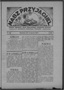 """Nasz Przyjaciel : dodatek tygodniowy """"Głosu Wąbrzeskiego"""" poświęcony sprawom oświatowym, kulturalnym i literackim 1933.06.10, R. 11, nr 23"""