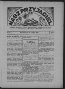 """Nasz Przyjaciel : dodatek tygodniowy """"Głosu Wąbrzeskiego"""" poświęcony sprawom oświatowym, kulturalnym i literackim 1933.06.24, R. 1[!], nr 25"""