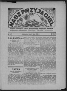 """Nasz Przyjaciel : dodatek tygodniowy """"Głosu Wąbrzeskiego"""" poświęcony sprawom oświatowym, kulturalnym i literackim 1933.07.08, R. 11, nr 27"""