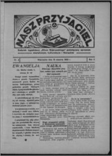 """Nasz Przyjaciel : dodatek tygodniowy """"Głosu Wąbrzeskiego"""" poświęcony sprawom oświatowym, kulturalnym i literackim 1933.08.19, R. 11, nr 3 [i.e. 34]"""