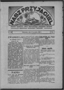 """Nasz Przyjaciel : dodatek tygodniowy """"Głosu Wąbrzeskiego"""" poświęcony sprawom oświatowym, kulturalnym i literackim 1933.09.16, R. 11, nr 56 [i.e. 38]"""