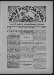 """Nasz Przyjaciel : dodatek tygodniowy """"Głosu Wąbrzeskiego"""" poświęcony sprawom oświatowym, kulturalnym i literackim 1933.09.23, R. 11, nr 57 [i.e. 39]"""