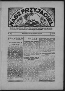 """Nasz Przyjaciel : dodatek tygodniowy """"Głosu Wąbrzeskiego"""" poświęcony sprawom oświatowym, kulturalnym i literackim 1933.09.30, R. 11, nr 57 [i.e. 40]"""