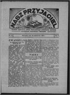 """Nasz Przyjaciel : dodatek tygodniowy """"Głosu Wąbrzeskiego"""" poświęcony sprawom oświatowym, kulturalnym i literackim 1933.10.28, R. 11, nr 61 [i.e. 44]"""