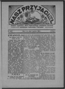 """Nasz Przyjaciel : dodatek tygodniowy """"Głosu Wąbrzeskiego"""" poświęcony sprawom oświatowym, kulturalnym i literackim 1933.12.02, R. 11, nr 49"""