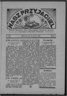 """Nasz Przyjaciel : dodatek tygodniowy """"Głosu Wąbrzeskiego"""" poświęcony sprawom oświatowym, kulturalnym i literackim 1933.12.23, R. 11, nr 52"""