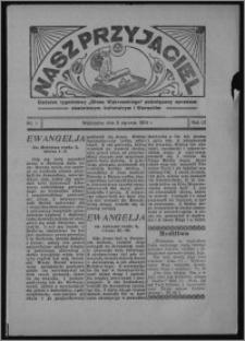 """Nasz Przyjaciel : dodatek tygodniowy """"Głosu Wąbrzeskiego"""" poświęcony sprawom oświatowym, kulturalnym i literackim 1934.01.06, R. 12, nr 1"""