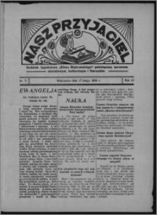 """Nasz Przyjaciel : dodatek tygodniowy """"Głosu Wąbrzeskiego"""" poświęcony sprawom oświatowym, kulturalnym i literackim 1934.02.17, R. 12, nr 7"""