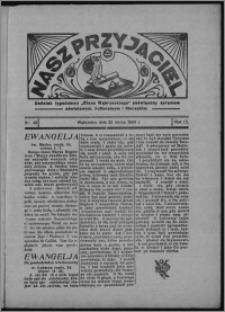 """Nasz Przyjaciel : dodatek tygodniowy """"Głosu Wąbrzeskiego"""" poświęcony sprawom oświatowym, kulturalnym i literackim 1934.03.31, R. 12, nr 22 [i.e. 13]"""